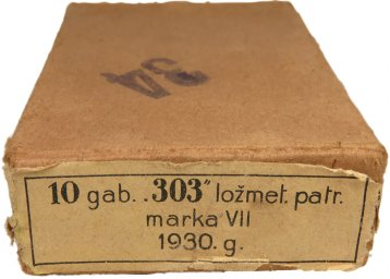 "Latvian made Pack for 10 cartridges ""303"", Mark VII, 1930, for the machine gun"