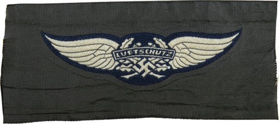RLB/SHD/LSW 3rd Reich BeVo woven Luftschutz insignia for headgear and uniforms