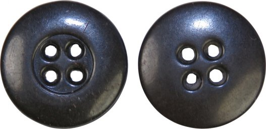 Dark brown 14 mm small bakelite button for German tunics