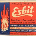 Wehrmacht Esbit stove pack with content