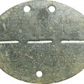 """Dog tag"", death medallion of a Wehrmacht soldier 13./ J.R. 15 (mot)"